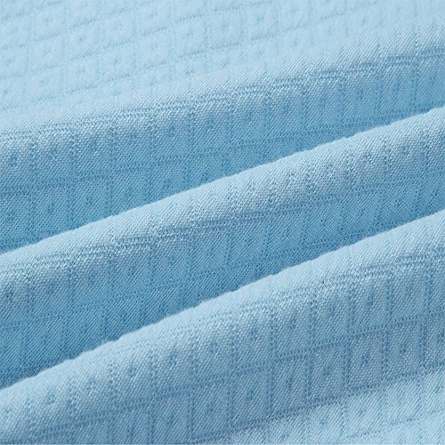 AHOOME Damen Hoodies Sweatshirt Top Langarm Reißverschluss Rollkragen Kapuzenpullover Pullover Outerwear Kapuzenpulli Hellblau