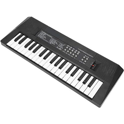 Tastiera musicale multifunzione a 37 tasti, tastiera di pianoforte, giocattoli per l'insegnamento della musica Doppio alimentatore per bambini