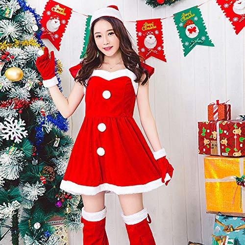 Olydmsky Weihnachten Kostüm Adult Christmas Theme Party Rollenspiel Bühnenperformance Kleid Weihnachten Kleid