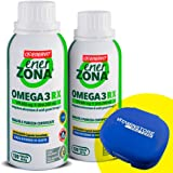 Enerzona Enervit Omega 3 RX, 2 confezioni da 120cpr + portapillole Vitaminstore ●Integratore Alimentare a base di olio di pesce per il Controllo del Colesterolo e Trigliceridi ● ricco di EPA e DHA