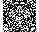 Stamperia Plantilla de Plástico 18x18cm Ornamento de Baldosas, Stamperia, de Plástico Estándar, Pintura, Stencil, Textil de Seda