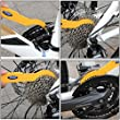 Bike Cleaning Kits, Shineus 6Pcs Bicycle Clean Brush Chain Cleaner Tyre Brushes with Bike Cleaning Gloves