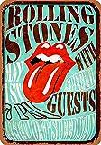 Hunnry Rolling Stones at Altamont Targa in Metallo retrò Parete Targhe Cartello Decorazione Appendere Placca Latta Muro Segno per Garage Casa Bar Cucina Giardino