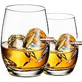 2 Pezzi Bicchieri Whisky - Bicchieri Vino Personalizzato, Bicchiere Cocktail e Whiskey Cristallo, Bicchieri Birra Forma di Pr