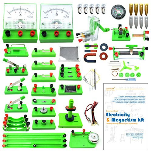 WOSKY School Physics Labs Basic Electricity Discovery Circuit and Magnetism Experiment Kits for Kids Junior Senior High School Students Electromagnetism Elementary Electronics