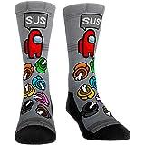 Jssevn Among Us Calcetines de punto para niños y niñas, diseño de animales, multicolor, divertidos calcetines de algodón, reg