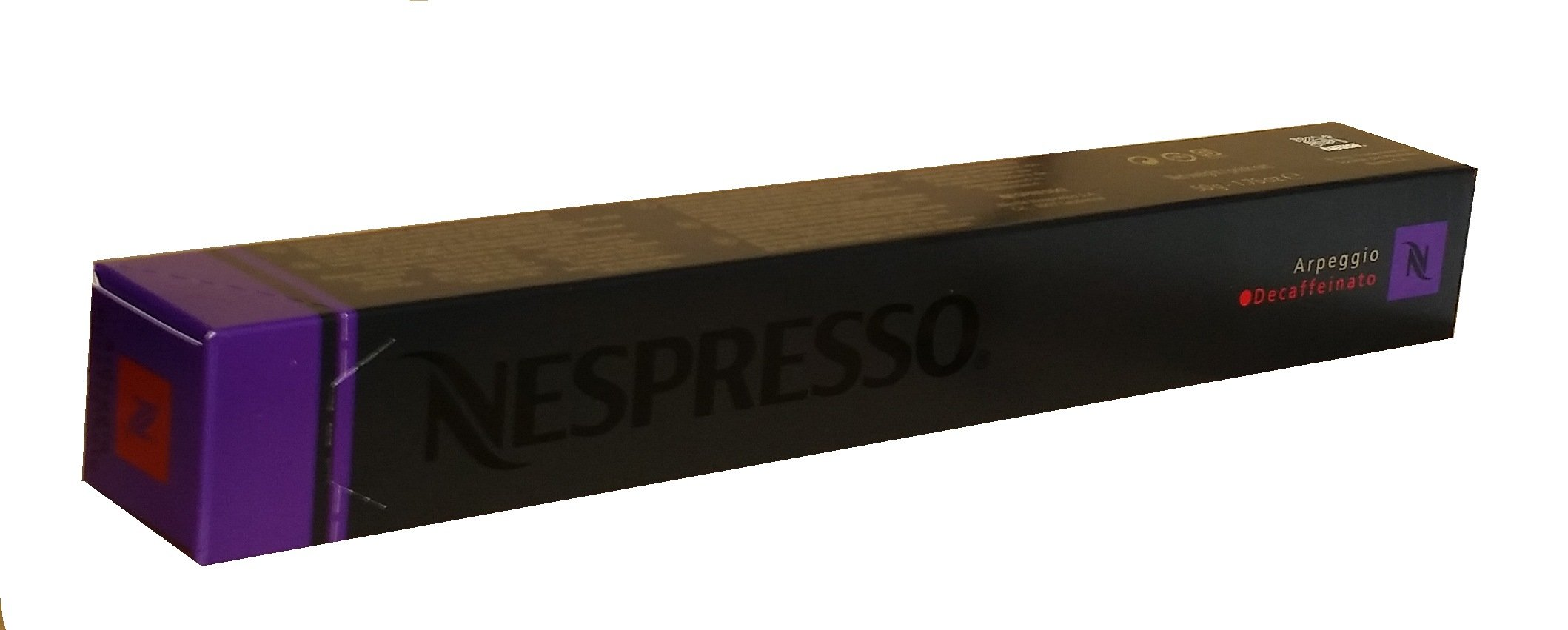 Nespresso Original Decaffeinato coffee pods and capsules (a cocoa notes, fruit notes, intense coffee with aromas of dried fruit and chocolate, fresh fruit and petals)