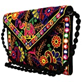 Craft Trade Handmade Designer Embroidered Rajasthani Clutch Bag For Women's