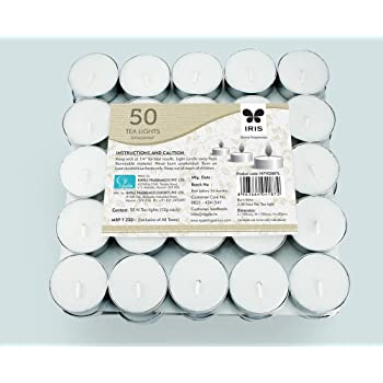 IRIS Tea Lights in a pack 11 g (White) -Set of 50