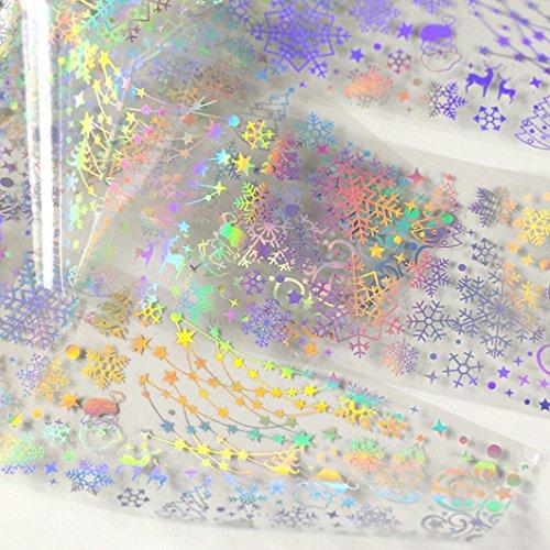 Sticker Nail Art Foil Aufkleber Nageldesign SOMESUN DIY Maniküre Laser Bewirken (4#)