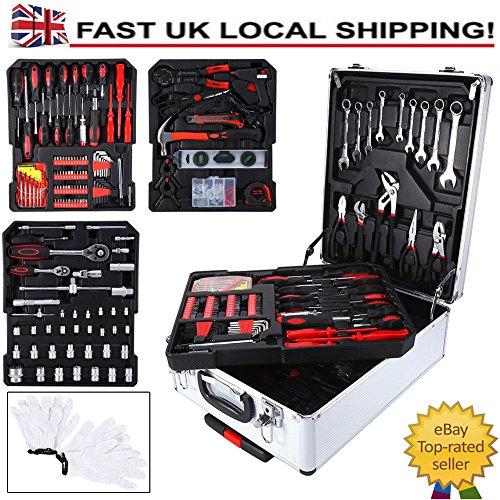 Generic Werkzeug-Set mit Werkzeug Aluminium Storage Torage Tr Box Koffer Aufbewahrung TRO Haushalt...