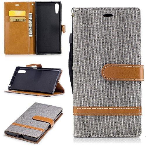 Nancen Wallet Case Hülle für Sony Xperia XZ XZS(5,2 Zoll),länglich-Taste Magnet,Muster Flip...