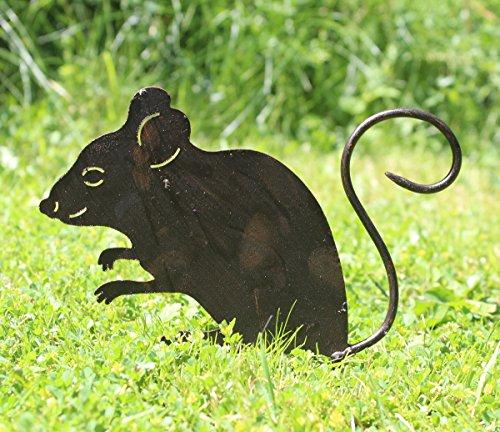 Nostalgic Garden Gartendeko Gartenstecker Maus zum Stecken Edelrost Rost Deko Design - D