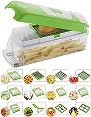 EVEN Vegetable and Fruit Chipser with 11 Blades, Peeler Inside, Chopper and Slicer (choppe nov even)