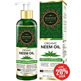 Morpheme Remedies Pure Organic Neem Oil ColdPressed Oil for Hair & Skin - 120ml