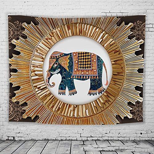Preisvergleich Produktbild Zzyff Bequem Haushaltswaren-kreative Schlafsaal-Hintergrund-Stoff-Elefant-hängende Tapisserie / Schlafzimmer-Wandverkleidungs-Nachtdekoration Schlafzimmer (Farbe : Yellow,  Size : M)
