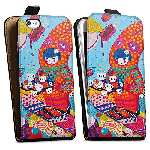 Apple iPhone X Silikon Hülle Case Schutzhülle Hase Süßigkeiten Mädchen Downflip Tasche schwarz