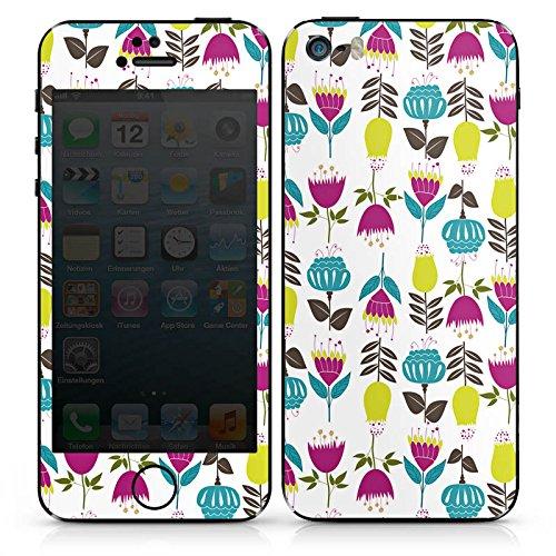 Apple iPhone SE Case Skin Sticker aus Vinyl-Folie Aufkleber Tulpen Flower Muster DesignSkins® glänzend