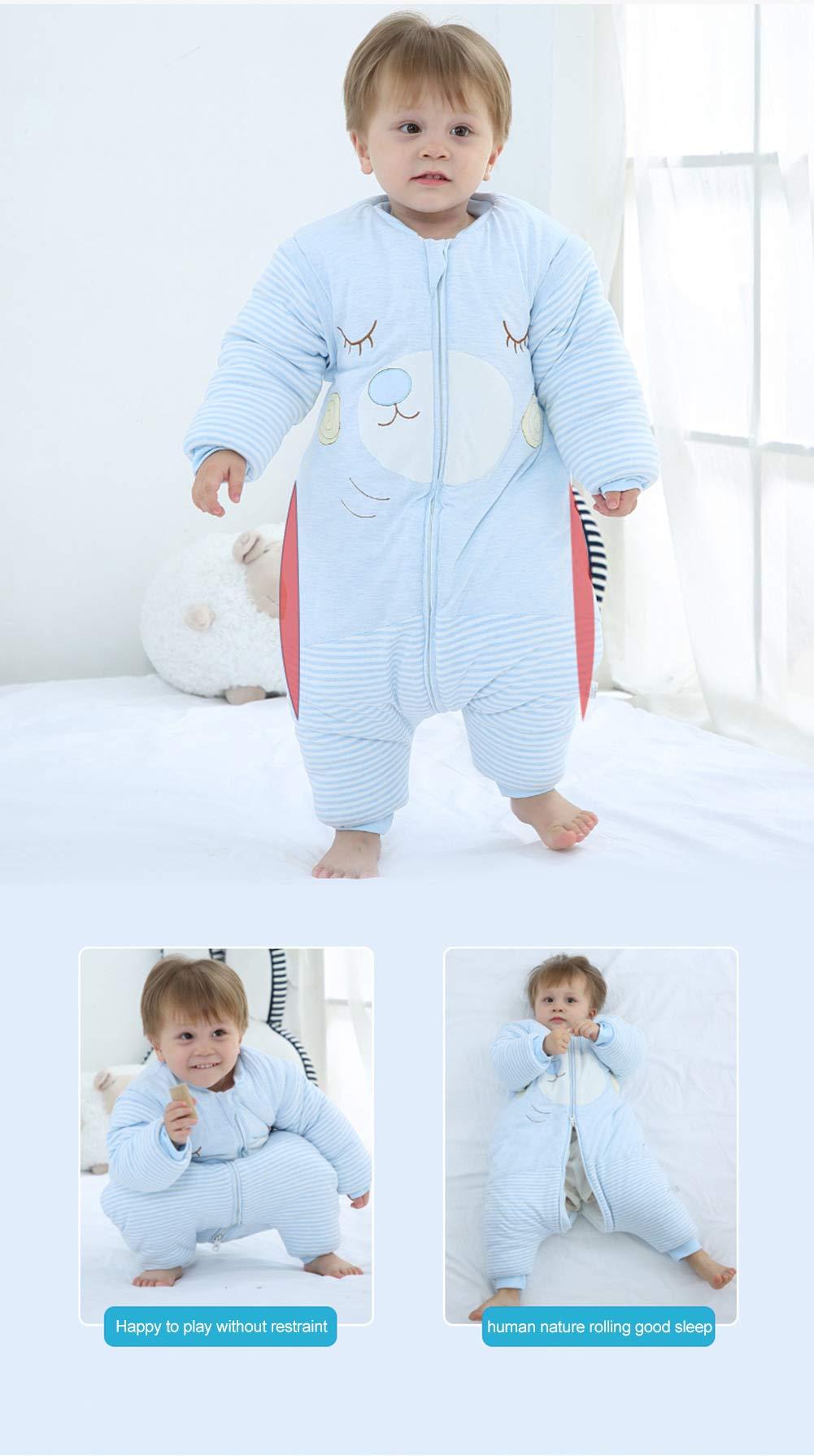 Happy Cherry – Saco de Dormir para bebé con Cremallera y Mangas largas Desmontables