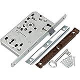 KOTARBAU® Insteekslot 72 / 55 mm DIN rechts kleurrijke sleutel slot deurslot met tegenplaat staal topkwaliteit roestvrij robu