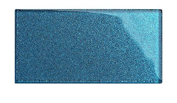 Qm di piastrelle da parete in vetro blu con glitter piastrelle è