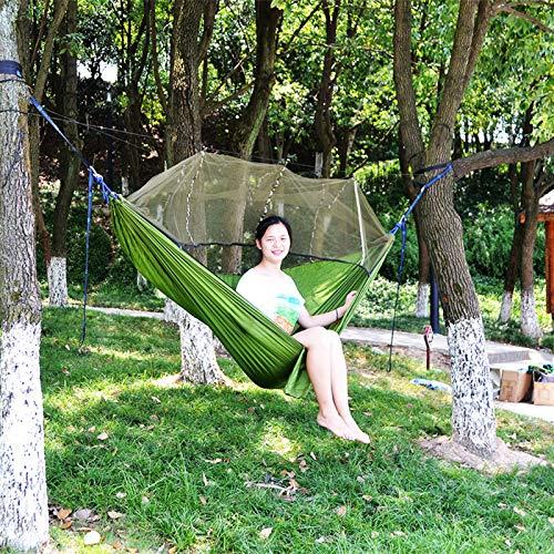 shutian Outdoor Fallschirm Tuch Hängematte mit Moskitonetz Ultraleicht Nylon Doppel Camping Luftzelt, 260 * 140cm -