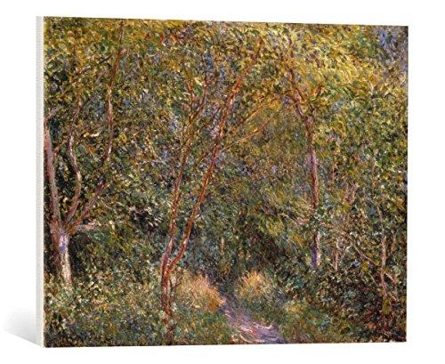 kunst für alle Leinwandbild: Alfred Sisley Unter Bäumen - hochwertiger Druck, Leinwand auf Keilrahmen, Bild fertig zum Aufhängen, 65x50 cm -