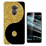 003250 - Gold and black ying yang Design Vodafone Smart