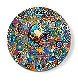 Kolorobia Colorfull Peacock Glass Clock