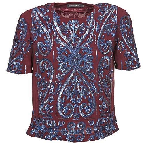 Antik Batik NIAOULI Tops/Blusen Damen Bordeaux - DE 36 (EU 38) - Tops/Blusen