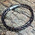 Bracelet CORE Cuir | Acier inoxydable | 21 cm | Serrure à pression à levier | HolycusCraft