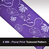 #7: PAffy Yoga Mat - 6 MM - Floral Print - Textured Pattern - Anti Skid Both Side - Washable - With Cover