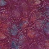 Violett Fallen Design 100% Baumwolle Bali Batik tie dye Muster Stoff für Patchwork, Quilten &,–(Preis pro/Quarter Meter)