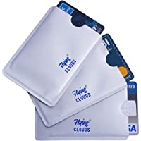 Flying Clouds 3 Pcs Rfid Blocking Card Cover, Silver