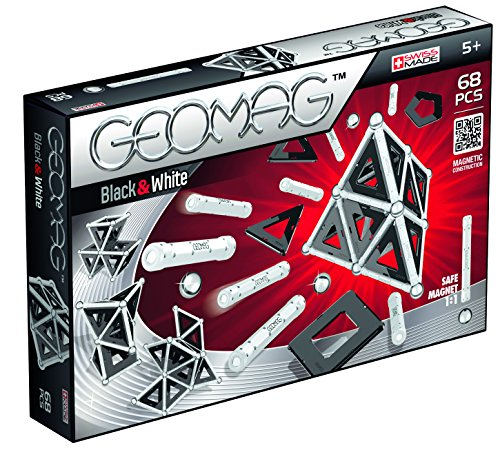 Geomag 012 Black & White mit Panels 68-teilig