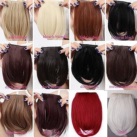 Wynce (TM) nuovo taglio di capelli clip in Bangs Falso capelli Hairpieces di estensione dei capelli pezzo clip su Front scoppio accurato per le donne sintetica Fringe Bang US