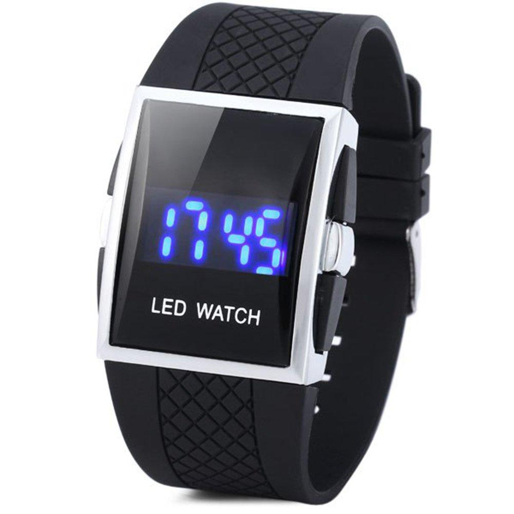Cursonline orologio digitale da polso led eco rossi unisex wrist watch display chiarissimo numeri grandi ideale anche per anziani e bambini mod 62 14