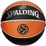Spalding Euroleague Tf1000 Legacy Sz. 7 (74-538Z) Balón de Baloncesto, Naranja / Negro, 7