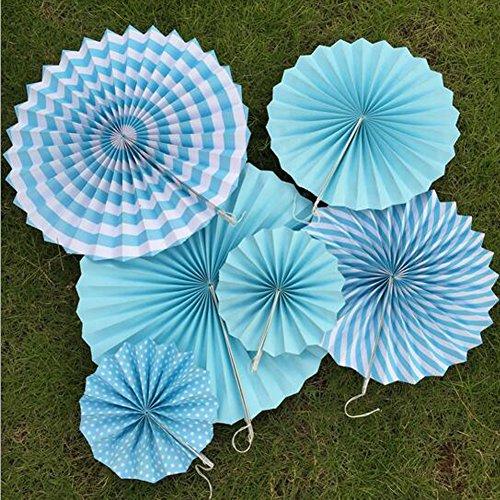 ,3cm 30,5cm 40,6cm blau Fiesta Papier Fan Flower Ball Hochzeit Taufe Prinz Boy Baby Dusche Dekoration ()