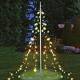 Lichterpyramide 400 cm hoch mit 400 LED warmweiß Weihnachtsdeko Lichterkette Beleuchtung XXL Lichternetz