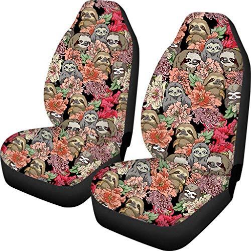 Drew Tours Hawaii Flower Autositzbezug Universal Fit Durable Waschbar Auto Drive Sitzbezüge Lustige Print Decor Abdeckungen 2 Pack
