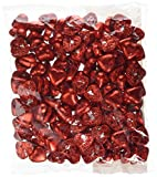 Red Foiled Milk Chocolate Caramel Creme Hearts - 1kg Bag