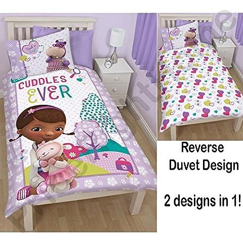 Disney - Juego de cama para cama individual, diseño de Doctora Juguetes
