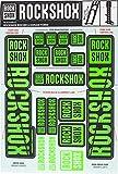 RockShox Aufklebersatz 35mm neongrün, Boxxer/Domain Doppelkrone, 11.4318.003.519 Ersatzteile, grün, Standrohre und Doppelbrücke