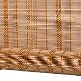 WENZHE Bambusrollo Fenster Sichtschutz Rollos Holzrollo Bambus Raffrollo Aufrollen Moskito Abgeschnitten Zuhause Hängender Vorhang, Bambus, 6 Farben, 11 Größen (Farbe : 3#, Größe : 135x175cm)