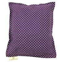 Lavendelkissen 25x20 cm original franz. Lavendel (ohne Zusatz von Duftstoffen) Motiv lila Pünktchen dunkel