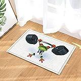 gohebe Wild Safari Tiere, Frosch red-eyes bei Gewichtheben mit weißem Hintergrund, Bad-Teppich, rutschfest Fußabtreter mit Entryways Innen-Tür-Matte für Kinder Badteppich mit X-23.6in Badezimmer Zubehör