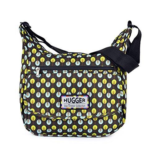 Hugger , Borsa Messenger , swarming daisy (viola) - Hugger lollipop