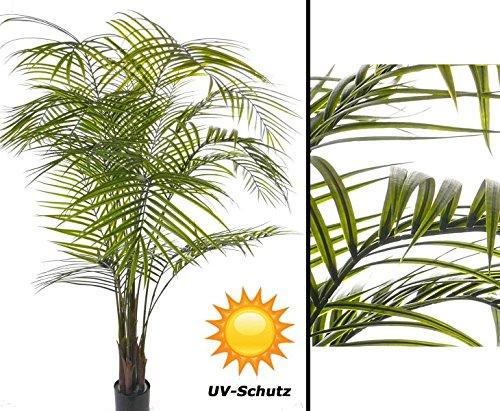 Kunstpalme Areka UV sicher, mit 16 Textilwedel und 175cm