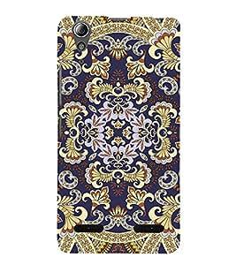 Fabcase golden royal king symmetric patterns Designer Back Case Cover for Lenovo A6000 :: Lenovo A6000 Plus :: Lenovo A6000+